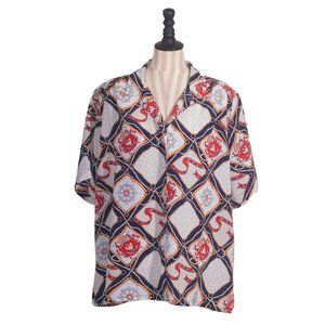 """Vintage """"DonnKenny Woman"""" Nautical Themed Blouse"""